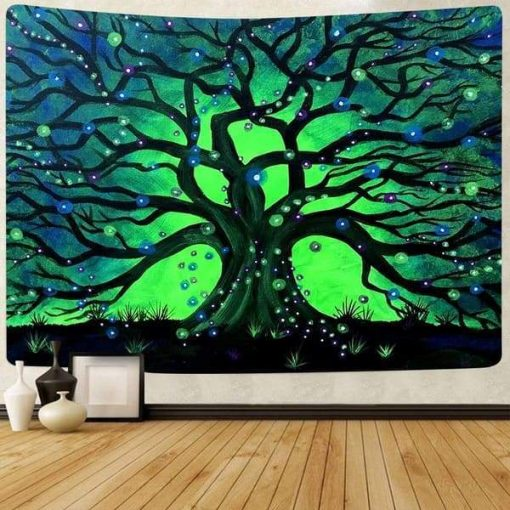 Grüner Baum des Lebens Tapete