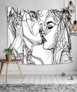 Liebe Zeichnung Wandbehang